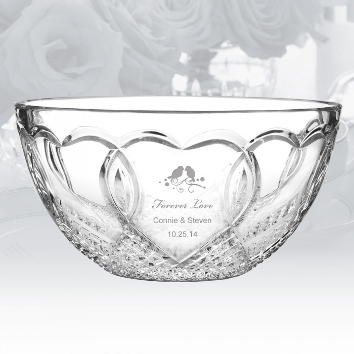 Clock Gifts Waterford Wedding Bowl