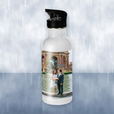 Sublimation Color Imprinted Stainless Steel Water Bottle Photo Gift