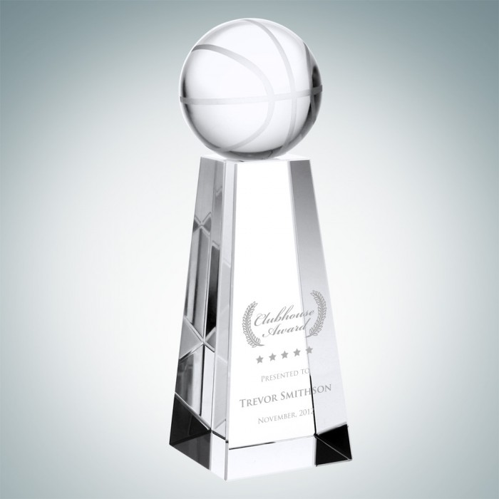 Sports Trophies Optical Crystal Basketball Award with