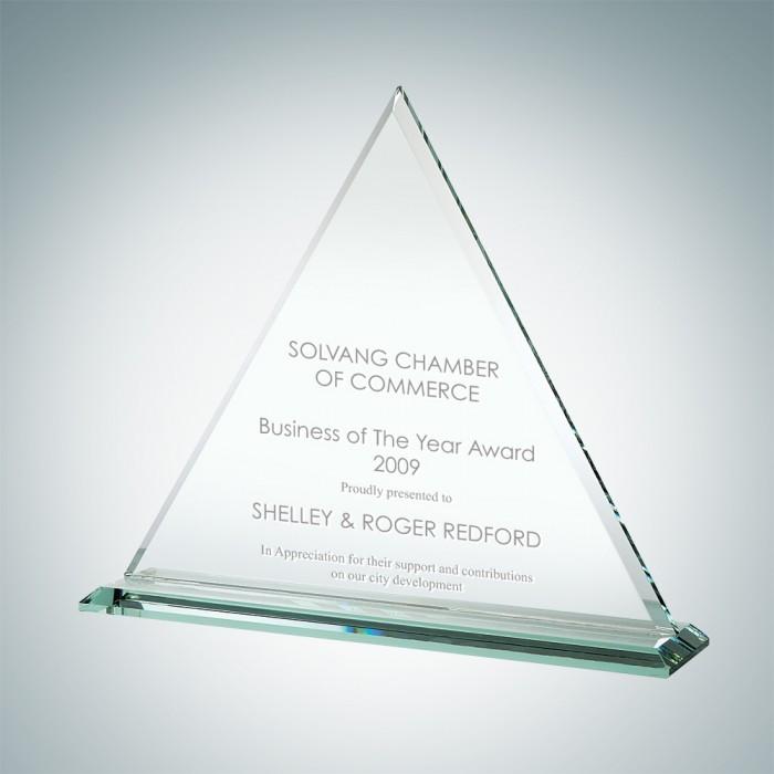Superior Salesmanship Jade Pyramid Crystal Award Engraving Included Prime 6 H Custom Salesmanship Award
